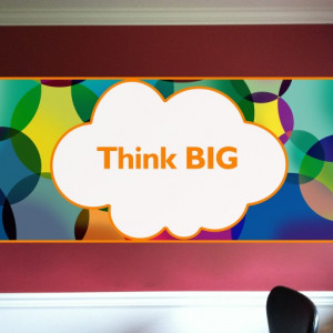 Sticker de Perete Think Big