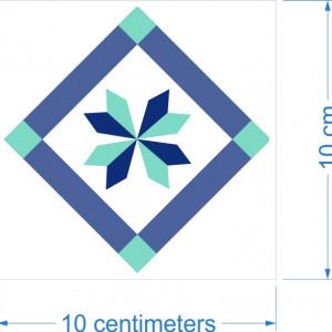Sticker decorativ imitatie faianta model romb
