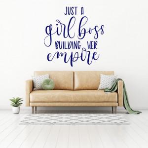Sticker Just a girl boss