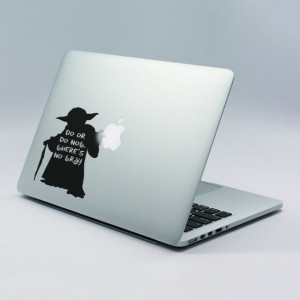 Sticker laptop - Yoda