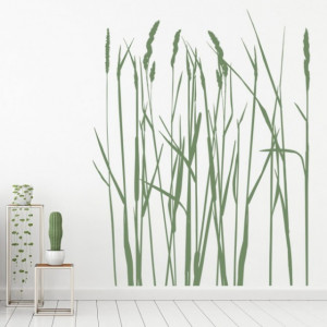 Sticker Long Grass Flowers