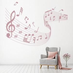 Sticker Music Score Musical Notes