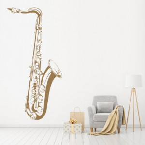 Sticker Saxophone Jazz Music