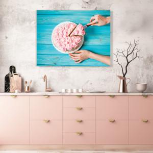 Tablou Bucatarie - Pink Cake