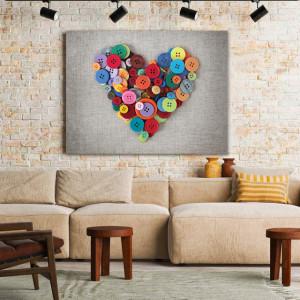 Tablou Canvas Buttons Heart