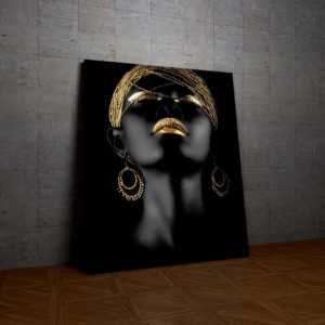 Tablou Canvas Golden Lips and Hair