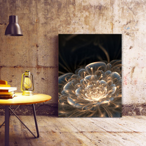 Tablou Canvas Magical Golden Flower