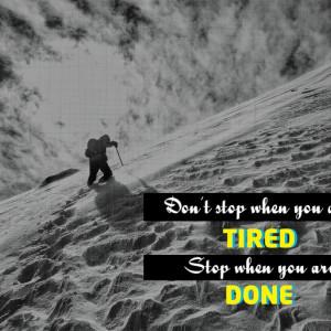 Tablou Canvas Motivational - Don't Stop