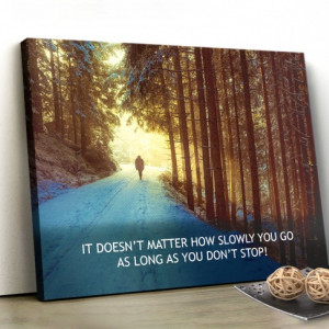 Tablou canvas motivational - Just walk!