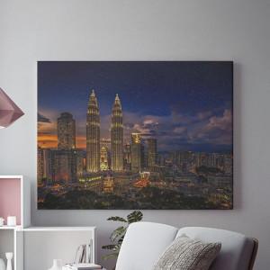 Tablou Canvas Sub cerul instelat al marilor orase