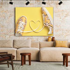 Tablou Canvas Yellow Love