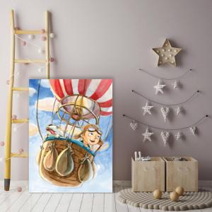 Tablou copii - Aventura cu balonul