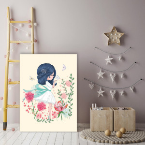 Tablou copii - Micuta zana a florilor