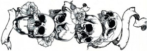 Tatuaj Temporar Cap De Mort 15x40cm