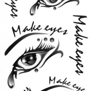 Tatuaj temporar -Make Eyes- 17x10cm