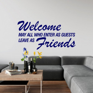 Welcome become friend