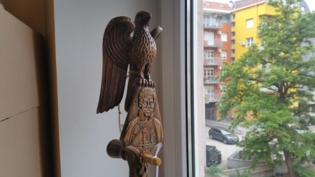 Gusle PROFESIONALNE - ORAO - Motivi: Karađorđe, Grb Srbije i HRAM Svetog Save (Model KGSHSS-400)