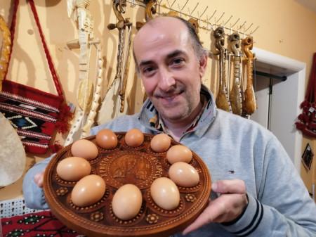 Tanjir za uskršnja jaja - Model 2 (za 10 jaja)