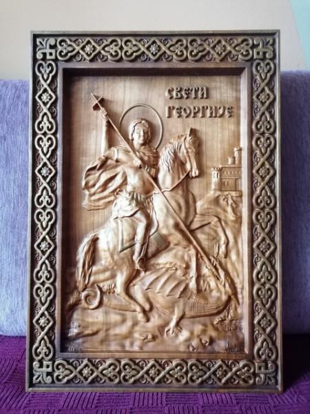 IKONA, nova - Sveti Georgije - 50x35 cm