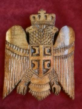 Istorijski Grb Srbije 12x12cm - Tamniji
