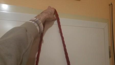 Veća torba na rame CRVENA - Ručno tkana - 30x30cm