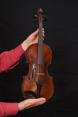 Violin, semi-manufactured - (4/4) - 90 years old