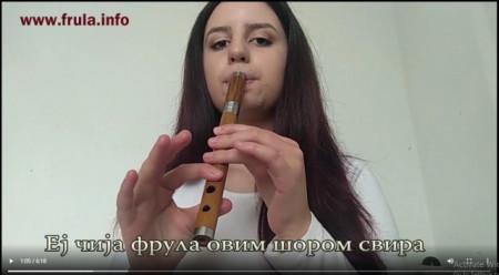 """Naučite da svirate """"EJ ČIJA FRULA OVIM ŠOROM SVIRA"""" - VIDEO LEKCIJA za frulu"""