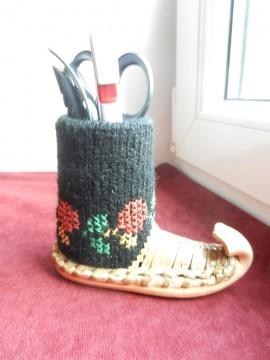Opanak sa čarapicom - za ŠMINKU i OLOVKE :o)
