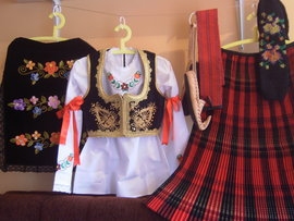 Complete Serbian national lady costume
