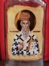 FLAŠA u Ekskluzivnoj POKLON drvenoj kutiji - Motiv: Sv.VASILIJE, OSTROG i molitva na svitku