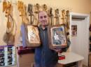 FLAŠA u Ekskluzivnoj POKLON drvenoj kutiji - Motiv: ARHANGEL MIHAILO i molitva na svitku