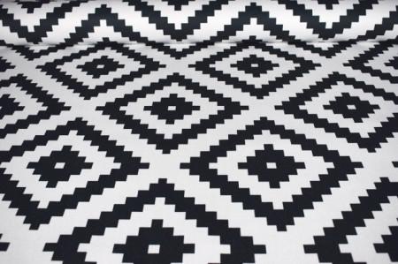crno beli mebl štof geometrija