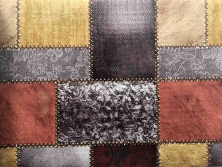 Mebl stof patchwork brown