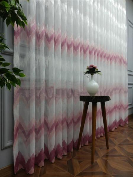 zavesa roze pruge