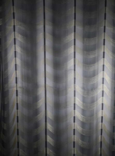 Zavesa sa volanima sivo zlatna 1500