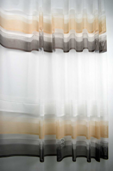 Zavesa sa poprečnim prugama oker braon 7100
