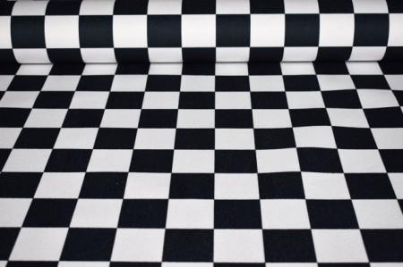 mebl štof crno bele kocke