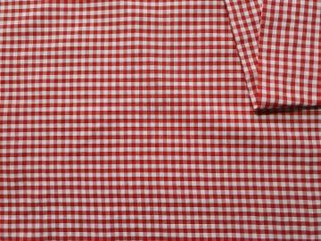 Pamučno platno crveno belo kockice