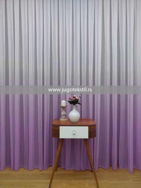 zavesa ombre ljubicasta