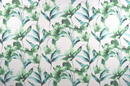 zeleno beli mebl štof