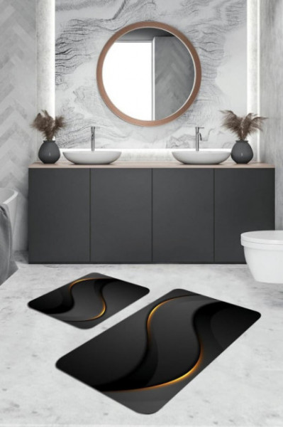 crna prostirka za kupatilo