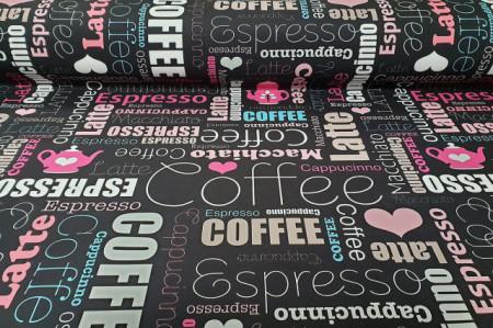 mebl stof coffe black