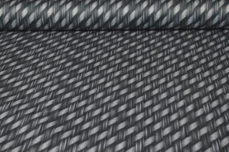 štampani mebl štof sivo crni