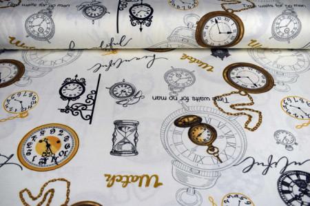 Pamučno platno sa slikama satova