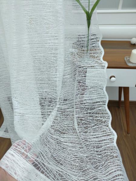 Končana bela zavesa