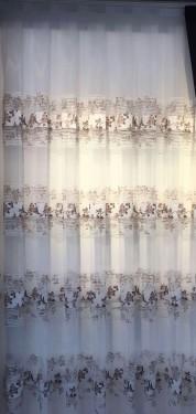 Zavesa sa poprečnim prugama print braon