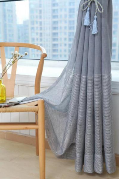 Zavesa siva od lana