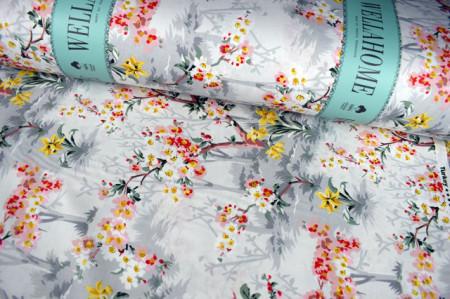 Platno za posteljinu cvetni dezen