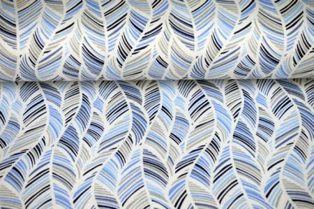 pamučno platno plavo belo