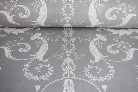Pamučna tkanina bež siva